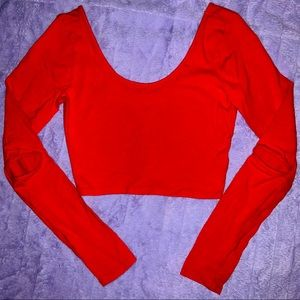 Forever 21 | Red Long Sleeve Crop